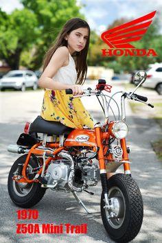 Honda Mini Trail 1970 New Poster. Mini Motorbike, Motorcycle, Honda Dax, Custom Mini Bike, Red Candy, Kids Bike, New Poster, Ducati, Motorbikes