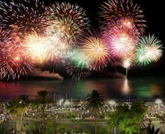 Fireworks during Nice's Prom' Party, photographed by J. Kelagopian, courtesy of Nice Tourist Office