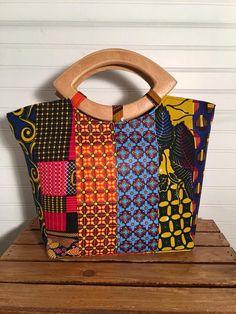 Ankara Bags, Sacs Design, African Accessories, African Fabric, African Prints, Handmade Handbags, Patchwork Bags, Denim Bag, Fabric Bags