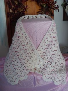 Crocheted Shawl by LavenderFrogs on Etsy, $25.00