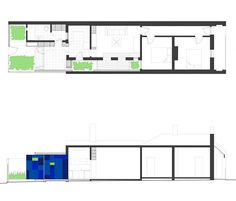 This urban cottage home plan designed by Australian architects 4site Architecture is a layering of old and new, indoor and outdoor spaces, the predictable with pops of bold color that...