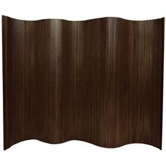 6 ft. Tall Bamboo Wave Screen   RoomDividers.com