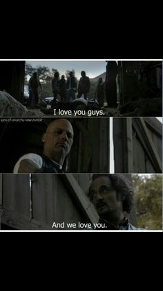 Happy: I love you guys   Tig: And we love you