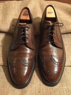 Allen Edmonds Men's Dress Shoes MacNeil Brown Size 10 D Wing tip ...