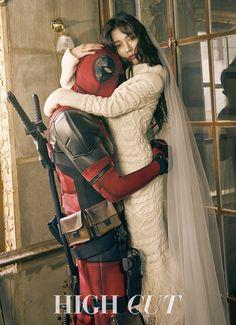 """Ryan Reynolds de """"Deadpool"""" fait part de son amour pour HyunA (4minute) suite à la séance photo de HIGH CUT"""