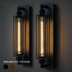 Long Pencil Bulb Industrial Retro Wall Light #30cm-Bulb #bed-light #brass