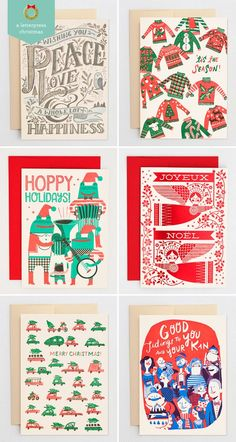 Illustrated and Hand Lettered Holiday Cards   Hello! Lucky