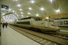 Bullet Train Paris to/from Monte Carlo. Immaculate train station in Monte Carlo .