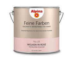 """Alpina Feine Farben """"Wolken in Rosé"""":  Diese grau nuancierte Rosé-Schattierung präsentiert gerne ihre tiefsinnige, klassische Seite. Ein verträumter, aber erwachsener Romantiker."""