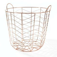 I LOVE this copper storage basket for the living room, but too bad it's only sold at Kmart AUSTRALIA and they don't do international shipping. Wire Basket Storage, Wire Storage, Metal Baskets, Decorative Baskets, Decorative Storage, Toy Storage, Copper Wire Basket, Copper Home Accessories, Interior Accessories