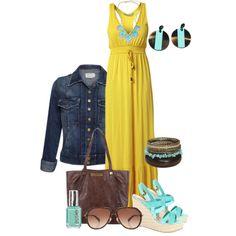 Yellow maxi dress by peridotpixie on Polyvore