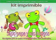 Kit Imprimible Sapo Pepe, Cumpleaños. Promo 2x1 - $ 34,96 en ...
