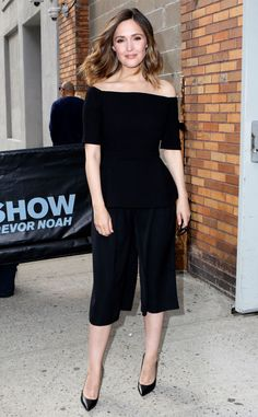 Rose Byrne from The Big Picture: Today's Hot Pics  The actress glows ina black romperwhile out and about in NYC.