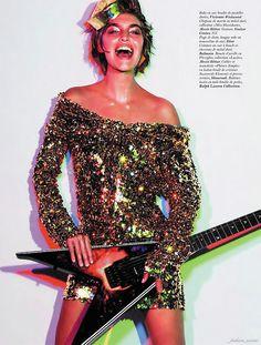 Monica Rose: Glam Rock inspired Vogue dec 2011