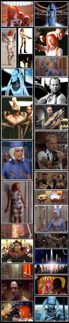 Love The Fifth Element (I know some of these aren't from the film, but they're still awesome!) One of my favorite movies! :)
