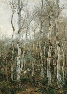 Winter in Andalusia (Poplars and Sheep at Alcalá de Guadaíra), 1888, Emilio Sanchez Perrier. Spanish (1855 - 1907)