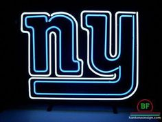 Nfl New York Giants Football Neonbar Pub Sign New York Giants Memes, New York Giants Logo, New York Giants Football, Giants Baseball, Baseball Live, Neon Light Signs, Led Neon Signs, Screen Material, Gyms Near Me