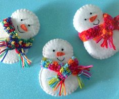 Items similar to Set of 6 Christmas Snowman Felt Decorations Christmas Ornaments Made to Order Felt Ornaments Super Cute on Etsy Super Cute Snowman decoration for your Christmas Tree. Set of 6 pieces. Felt Christmas Decorations, Snowman Decorations, Christmas Ornament Crafts, Christmas Sewing, Christmas Snowman, Holiday Crafts, Diy Christmas Ornaments, Christmas Crafts To Make, Etsy Christmas
