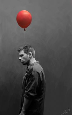 Lucifer with a red balloon by euclase.deviantart.com