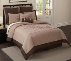 Cherry Blossom Bedding - Neutral Taupes and Browns