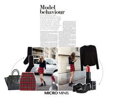 Urban Tartan by lajudy on Polyvore featuring polyvore fashion style T By Alexander Wang Filles à papa Hansel from Basel Dr. Martens CÉLINE NARS Cosmetics Urban Outfitters women's clothing women's fashion women female woman misses juniors microminis