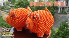 HOW TO MAKE 3D ORIGAMI PIGGY | DIY PAPER PIGGY TUTORIALS