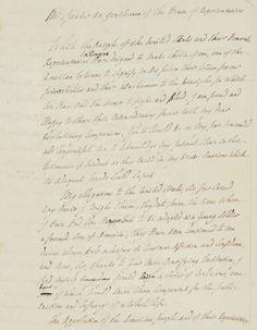 LAFAYETTE, Gilbert du Motier, marquis de  Manuscrit autographe Washington, après le 10 décembre 1824 2 pp. 1/2 in-4, encre brune, quelques corrections et ratures; filigrane 'Amies/ Philada' avec une colombe tenant un rameau d'olivier. Deux traces de bande adhésive dans les marges LE MANUSCRIT AUTOGRAPHE ET CORRIGÉ DU PREMIER DISCOURS FAIT PAR UN ÉTRANGER DEVANT LE CONGRÈS. HONNEUR AUSSI ACCORDÉ À WINSTON CHURCHILL. Pierre Bergé & associés - 22/05/2015