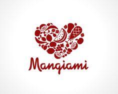 Shapes (like fruit) making aggregate shape (like overalls) Fruit Logo, Logo Real, Logo Branding, Logos, App Logo, Heart Logo, Logo Food, Logo Concept, Name Cards