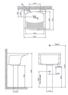 esquema ponto de agua e esgoto máquina de lavar roupas