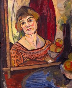 Self Portrait - 1927. Suzanne Valadon (1865-1938) created powerful, unconventional, and sometimes controversial figure paintings, often of female nudes which was unusual in the 19th Cfor a woman artist. In 1894, Valadon became the first woman painter admitted to the Société Nationale des Beaux-Arts. She was also the mother of painter Maurice Utrillo.
