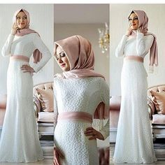 Hijab fashion, the hijab just needs to lower a bit