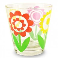 Jane Foster Coloured Flowers Glass