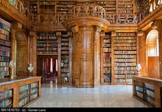 Helikon Library, interior, Baroque castle, Festetics kasteely, Keszthely, Hungary, Europe