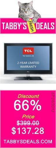 TCL LE24FHDD20 24-Inch 1080p LED HDTV $137.28
