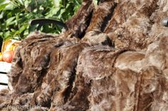 Toscana Lammfelldecke abgefüttert - brauntöne