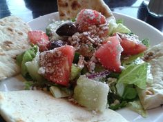 Small Greek Salad @ Greek Grill.  $6.00 plus tax