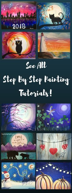 Step By Step Painting For Beginners Acrylic Canvas Tutorials - Step By Step Painting Is Like A Virtual Art Studio Where You Can Learn To Paint At Home For Free You Will Find These Step By Step Painting For Beginners Tutorials To Be Very Helpful And Easy T Easy Canvas Painting, Acrylic Painting Tutorials, Acrylic Canvas, Diy Painting, Painting & Drawing, Canvas Paintings, Painting Techniques, Acrylic Painting For Kids, Drawing Lips