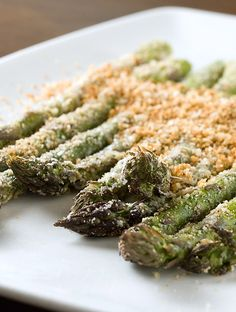 Jazz up your asparagus this Easter with breadcrumbs and Parmesan cheese.