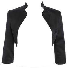 womens satin black shrug   Black matt satin bolero - Shrugs & capes - Tops - Womens - Debenhams