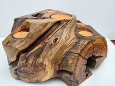 Driftwood Lamp, Driftwood Projects, Small Wood Projects, Wood Candle Holders, Tea Light Holder, Hobbies And Crafts, Wood Design, Wood Art, Wood Crafts