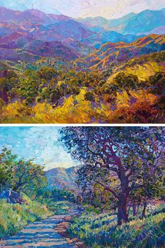Artist Erin Hanson creates colorful landscape paintings that pay homage to the American great outdoors.