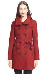 Burberry Brit 'Daylesmoore' Wool Blend Trench Coat