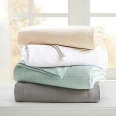 Egyptian Cotton Blanket (King) Seafoam