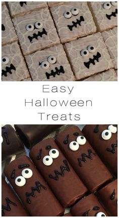Add candy eyeballs to store-bought treats.... These semi-homemade Halloween…