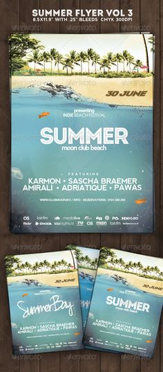 Summer Flyer Poster Vol 3