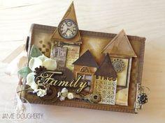 Minis, Mini Albums Scrap, Christmas Card Crafts, Album Book, Mini Scrapbook Albums, Mini Books, Scrap Books, Handmade Books, Home And Deco