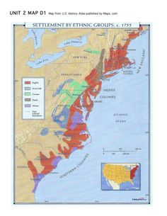settlement of usa by ethnic groups c 1755