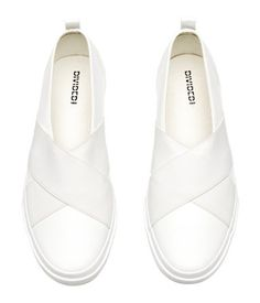 Slip on-sneakers | Vit | Dam | H&M SE