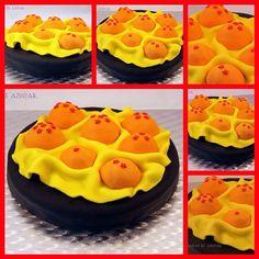 Para el cumple de un gran artista, una tarta de su serie de anime favorita. Vamos a buscar las bolas de dragón con Goku! A quién no le gusta Dragon Ball? Feliz Cumpleaños Pedro!!!