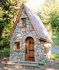 Stone masonry is a challenging field dependent upon a qualified professional, who knows exactly what they're doing at all times. Dan Reinhart of Dan Reinhart Masonry has 42 years experience Stone Cottages, Small Cottages, Cabins And Cottages, Stone Houses, Tiny Cabins, Tiny House Cabin, Tiny House Living, Tiny House Design, Fairytale Cottage